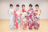 (写真左から)蟹沢萌子(≠ME)、谷崎早耶(≠ME)、佐々木舞香(=LOVE)、大場花菜(=LOVE)、菅波美玲(≠ME)
