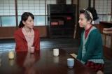 連続テレビ小説『スカーレット』第13週・第76回より。喜美子(戸田恵梨香)が直子(桜庭ななみ)に常治の死に目に立ち会わなかった事情を問い詰めると…(C)NHK