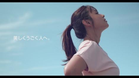 Web動画『DESCENTE WOMEN'S 2020 Spring&Summer篇』に出演する深田恭子