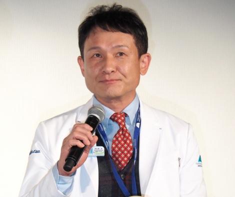 『アライブ がん専門医のカルテ』舞台挨拶に出席した木下ほうか (C)ORICON NewS inc.