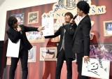 劇場版『KING OF PRISM ALL STARS -プリズムショー☆ベストテン-』完成披露舞台あいさつに登壇した(左から)寺島惇太、畠中祐、武内駿輔 (C)ORICON NewS inc.
