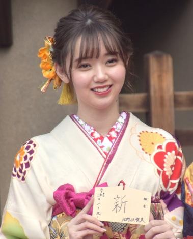 エイベックス・マネジメントに所属する女性タレントによる新春晴れ着撮影会に参加した江野沢愛美 (C)ORICON NewS inc.