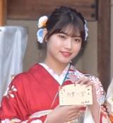 エイベックス・マネジメントに所属する女性タレントによる新春晴れ着撮影会に参加した古田愛理 (C)ORICON NewS inc.