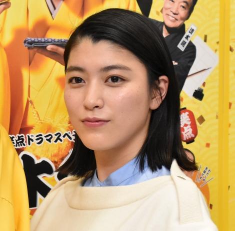 『BS笑点ドラマスペシャル 初代 林家木久蔵』囲み会見に出席した成海璃子 (C)ORICON NewS inc.