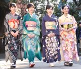 新成人メンバー成人式に登場した乃木坂46(左から)大園桃子、山下美月、渡辺みり愛、向井葉月 (C)ORICON NewS inc.