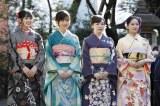新成人メンバー成人式に登場した乃木坂46(左から)大園桃子、山下美月、渡辺みり愛、向井葉月