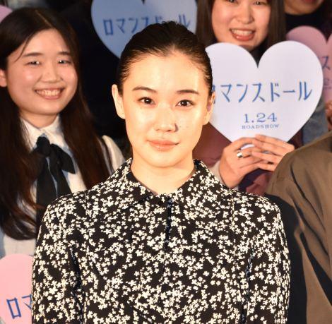 結婚についてトークした蒼井優=映画『ロマンスドール』公開直前イベント (C)ORICON NewS inc.