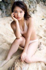 白ビキニでクールな表情も=モーニング娘。'20石田亜佑美の写真集『believe in oneself』より