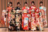 STU48新成人(左から)矢野帆夏、沖侑果、今村美月、中村舞、谷口茉妃菜=AKB48グループ 2020年新成人メンバー 成人式記念撮影会 (C)ORICON NewS inc.
