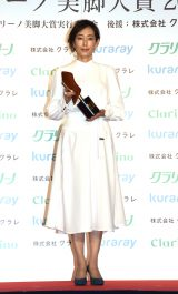 『第17回 クラリーノ美脚大賞2019』表彰式に出席した木村多江 (C)ORICON NewS inc.