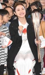 『東京2020聖火リレー公式アンバサダー学校訪問イベント』に出席した石原さとみ (C)ORICON NewS inc.