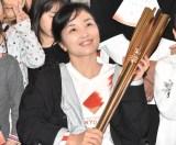 『東京2020聖火リレー公式アンバサダー学校訪問イベント』に出席した田口亜希選手 (C)ORICON NewS inc.