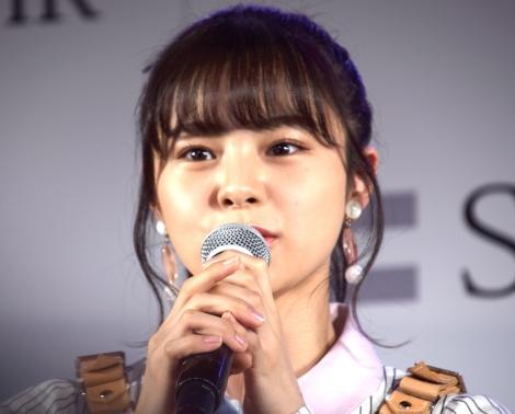 『AKB48グループのVRライブ配信開始に関する記者発表会』に出席した本間日陽 (C)ORICON NewS inc.