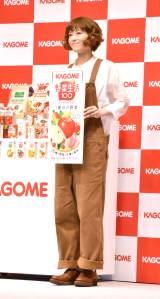 カゴメ『野菜生活100』の新CM発表会に出席した上野樹里 (C)ORICON NewS inc.
