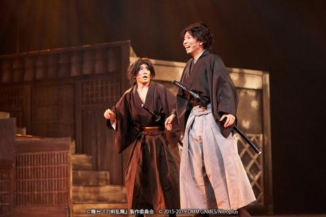 「舞台『刀剣乱舞』維伝 朧の志士たち」の様子