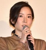 映画『記憶屋 あなたを忘れない』公開記念舞台あいさつに出席した蓮佛美沙子 (C)ORICON NewS inc.
