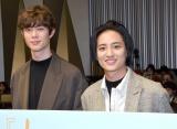 映画『his』プレミアイベントに登場した(左から)宮沢氷魚、藤原季節 (C)ORICON NewS inc.