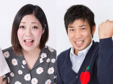 サムネイル (左から)日本エレキテル連合・中野聡子(そうこ)、松尾アトム前派出所