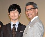 続編制作喜ぶも「撮影が苦しい」と語った(左から)佐々木蔵之介、中井貴一 (C)ORICON NewS inc.