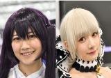 『コミケ97』にコンパニオンとして参加した、瀬谷ひかるさん(左)と尊みを感じて桜井さん(右) (C)oricon ME inc.
