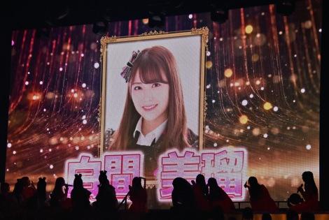 白間美瑠(NMB48)=AKB48 57thシングル(3月18日発売)選抜メンバーをサプライズ発表 (C)ORICON NewS inc.