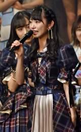 ファンに意気込みを語る山内瑞葵=AKB48 57thシングル(3月18日発売)選抜メンバーをサプライズ発表 (C)ORICON NewS inc.