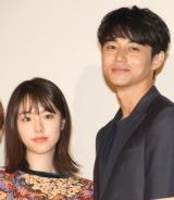 映画『寝ても覚めても』舞台あいさつに出席した(左から)唐田えりか、東出昌大 (C)ORICON NewS inc.