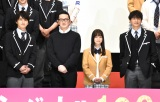 映画『シグナル100』完成披露会見と舞台あいさつに登壇した(左から)瀬戸利樹、中村獅童、橋本環奈、小関裕太 (C)ORICON NewS inc.