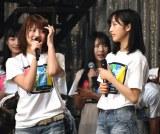 岡部麟(茨城県)と小栗有以(東京)も喜びのあいさつ=AKB48グループTDCホールライブ祭り『AKB48 単独コンサート』の様子 (C)ORICON NewS inc.