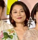 映画『グッドバイ〜嘘からはじまる人生喜劇〜』完成披露試写会に出席した小池栄子