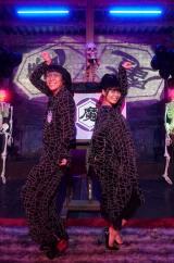 NHK総合のよるドラ『伝説のお母さん』(2月1日スタート)魔界のおにいさん&おねえさん役で小林よしひさ&上原りさが出演(C)NHK
