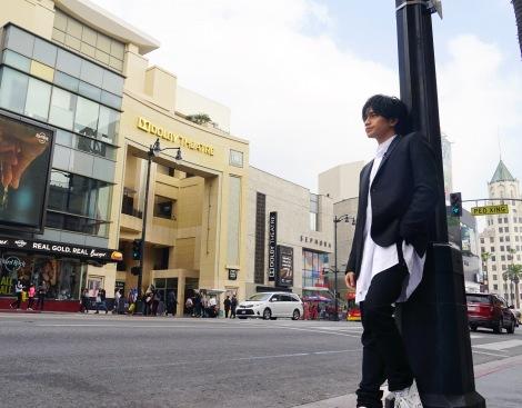 WOWOW「中島健人 ハリウッドの風を探して」のメインビジュアル