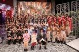 (最前列左から)しばたありぼぼ、大森靖子、ヒャダインを迎えたトークコーナーも(C)フジテレビ