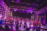 2月2日放送のフジテレビ系音楽番組『Love music』にハロー!プロジェクト6組58人が集結(C)フジテレビ