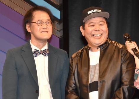 『よしもと男前ブサイクランキング』開催発表会見に出席した(左から)稲田直樹、ほんこん (C)ORICON NewS inc.