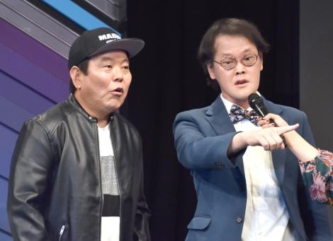 『よしもと男前ブサイクランキング』開催発表会見に出席した (左から)ほんこん、稲田直樹 (C)ORICON NewS inc.
