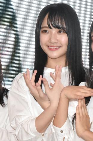 4thシングル「無謀な夢は覚めることがない」の発売記念イベントを行ったSTU48・石田千穂 (C)ORICON NewS inc.