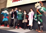 『TOKYOアニメツーリズム2020デジタルスタンプラリー』のキックオフイベントに参加した(左から)アメリカザリガニ(柳原哲也、平井善之)、山下大輝、市川美織、松澤千晶 (C)ORICON NewS inc.
