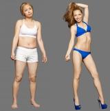 体重6.5キロ減で大変身したMAX LINAのビフォー(左)、アフター(右)