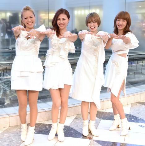 シングル「パルテノン」のリリースイベントを開催したMAX(左から)LINA、NANA、MINA、REINA (C)ORICON NewS inc.