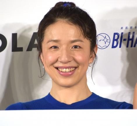 美肌を目指せる体操『BI-HA-DANCE』ローンチ発表会に出席した浜口京子 (C)ORICON NewS inc.