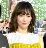 現場で「結婚してすみません」と謝罪したことを明かした水川あさみ=NHK・BSプレミアムドラマ『シューカツ屋』の記者発表会 (C)ORICON NewS inc.