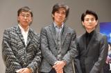 (左から)若松節朗監督、佐藤浩市、吉岡秀隆 (C)ORICON NewS inc.