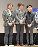 映画『Fukushima 50』報知映画賞特選試写会イベントに出席した(左から)若松節朗監督、佐藤浩市、吉岡秀隆 (C)ORICON NewS inc.