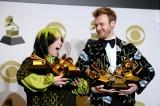 『第62回グラミー賞』の主要4部門で受賞したビリー・アイリッシュ(C)GettyImages