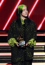 『第62回グラミー賞』で「最優秀新人賞」を受賞したビリー・アイリッシュ(C)GettyImages