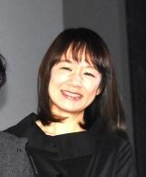 映画『静かな雨』公開記念舞台あいさつに登壇した宮下奈都 (C)ORICON NewS inc.