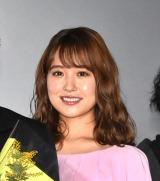 映画『静かな雨』公開記念舞台あいさつに登壇した衛藤美彩 (C)ORICON NewS inc.
