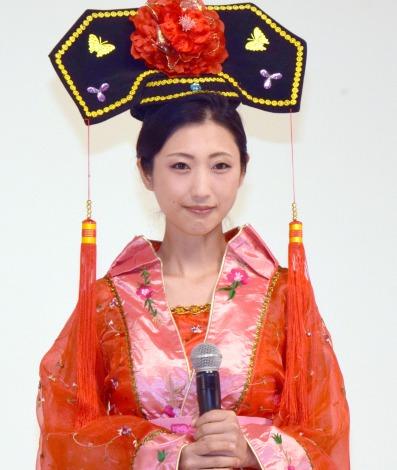 鮮やかな中国宮廷衣装で登場した壇蜜=中国ドラマ『武則天-The Empress-』DVDリリース記念イベント (C)ORICON NewS inc.