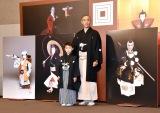襲名披露興行の発表会に出席した(左から)堀越勸玄くん、市川海老蔵 (C)ORICON NewS inc.